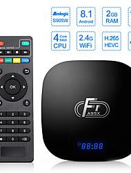 Недорогие -f1 android tv box amlogic s905w box четырехъядерный процессор для умного телевизора android тв приставка поддержка 16 Гб 4k wifi youtube pk x96 мин
