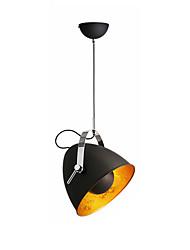Недорогие -Промышленные подвесные светильники с поворотной металлической головкой Одиночный подвесной светильник Даунлайт Окрашенные поверхности Металлические подвесные светильники Высота регулируемая для
