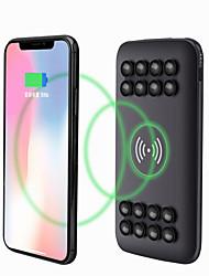 Недорогие -Ци беспроводной 20000mAh Power Bank 2 USB резервное зарядное устройство для мобильного телефона