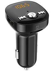 Недорогие -Автомобильная беспроводная Bluetooth-гарнитура BC40 Dual USB зарядки Bluetooth FM-передатчик mp3 музыкальный плеер автомобильный комплект поддержки громкой связи&усилитель; TF карта&усилитель;