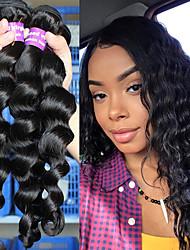 """Недорогие -3 Связки Бразильские волосы Свободные волны Натуральные волосы One Pack Solution 10""""-26"""" Нейтральный Ткет человеческих волос Расширения человеческих волос"""