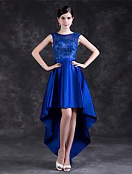 저렴한 -A-라인 쥬얼리 비대칭 폴리에스테르 / 레이스 드레스 와 으로 LAN TING Express