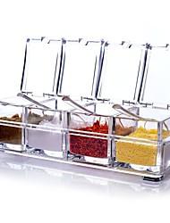 Недорогие -2pcs Коробки для хранения Пластик Прост в применении специи