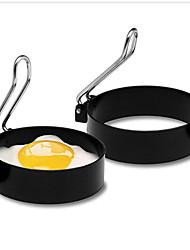 Недорогие -ручка с антипригарным покрытием из нержавеющей стали круглые яичные кольца формирователь блины формы круглое яйцо жареные формы кухонные принадлежности яйцо плита