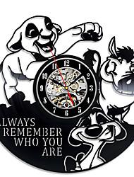 Недорогие -большие настенные часы король лев симба виниловые пластинки настенные часы duvar saati reloj- украсьте свой дом современными большими