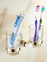 Недорогие -Держатель для зубных щеток Креатив Современный Сплав титана 1шт - Ванная комната На стену