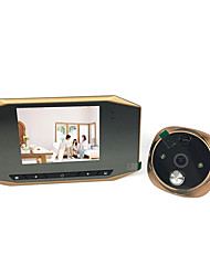 Недорогие -3,5-дюймовый высокой четкости цифровой интеллектуальный электронный кошачий глаз поддержка фото запись человеческого тела зондирования дверной звонок ночного видения