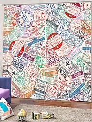 Недорогие -красочный декор для дома 3d цифровая печать занавес окна 100% полиэстер затемняющая спальня / гостиная / комната для девочек шторы