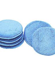 Недорогие -12,5 см ультра-мягкие круглые аппликаторы из микрофибры для автомобильной полировки, светло-голубой