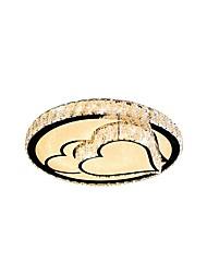 Недорогие -потолочная лампа скрытого монтажа современная простота круглый потолочный светильник спальня из светодиодов в форме сердца кристалл