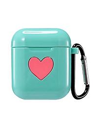 Недорогие -Сумка для наушников Дамы Симпатичные Стиль Apple Airpods Защита от удара Скретч-доказательство кремнийорганическая резина