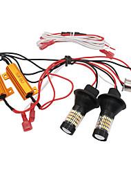 Недорогие -1 компл. Drl bau15s 1156 p21w t20 7440 96led drl ходовые огни указатели поворота фары canbus s25 двухрежимные внешние фары