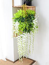Недорогие -искусственный цветок 1 шт. филиал современный современный вечный цветок стены цветок моделирования глицинии цветочный завод прямой бин цветок на стене свадебные арки украшения цветок свадебный потолок