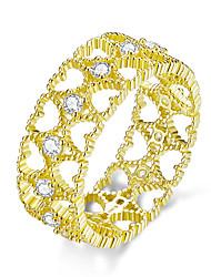 Недорогие -кружевной узор широкий палец кольца для женщин стерлингового серебра 925 пробы золото цвета сердца наращиваемый кольцо корейских ювелирных изделий