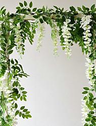 Недорогие -71 (дюйм) глицинии строки / искусственные цветы 2 ветви настенные подвесные вечеринки / свадебные растения настенный цветок