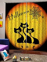 Недорогие -Завод прямые цены уф цифровая печать счастливый хэллоуин тема шторы затемнения пользовательские род комплект занавес