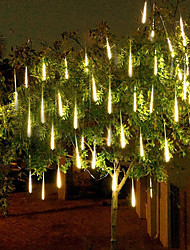 Недорогие -4 упак. 50 м 16ft дождь дождь 540 светодиодные падения метеоритный дождь огни для праздника хэллоуин рождественская елка украшения водонепроницаемый