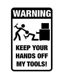 Недорогие -мода ящик для инструментов предупреждение стикер автомобиля предупреждение декоративные наклейки