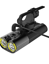 Недорогие -Светодиодная лампа Велосипедные фары Передняя фара для велосипеда Горные велосипеды Велоспорт Водонепроницаемый Несколько режимов Супер яркий Литий-ионная 200 lm USB Перезаряжаемый Белый / IPX 6