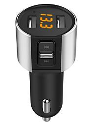Недорогие -5v / 3.4a Bluetooth FM-передатчик aux беспроводной аудиоплеер автомобильный комплект громкой связи FM-модулятор Dual USB зарядное устройство громкой связи