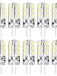 Недорогие -10 шт. 3 W Двухштырьковые LED лампы 3000 lm G4 T 24 Светодиодные бусины SMD 2835 Новый дизайн Тёплый белый Белый 12 V