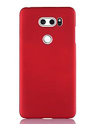 Недорогие -Кейс для Назначение LG LG V40 / LG V50 / LG V30 Ультратонкий Кейс на заднюю панель Однотонный ТПУ