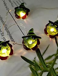 Недорогие -2 м 6.6 футов 20 из светодиодов хэллоуин ведьма свет шнура на открытом воздухе висит освещенный голова ведьмы украшения с питанием от батареи для партии фестиваль двор дерево