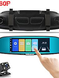Недорогие -V37 1080p HD Автомобильный видеорегистратор 170° Широкий угол 7 дюймовый Капюшон с Автомобильный рекордер
