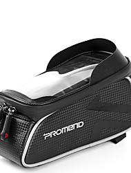 Недорогие -1 L Сотовый телефон сумка Бардачок на раму Сумка на бока багажника велосипеда Сенсорный экран Водонепроницаемая молния На открытом воздухе Велосумка/бардачок Кожа PU Велосумка/бардачок Велосумка