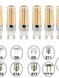 Недорогие -6шт 5 W LED лампы типа Корн Двухштырьковые LED лампы 500 lm E14 G9 G4 T 80 Светодиодные бусины SMD 3014 Диммируемая Новый дизайн Тёплый белый Белый 220-240 V 110-120 V
