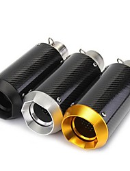 Недорогие -38-51mm 125-1200cc мотоцикл надевается круглый глушитель выхлопных газов из углеродного волокна спорт - черный