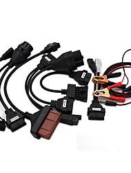 Недорогие -aramox автомобильный диагностический кабель автомобильные кабели obd2 pro obd2 obdii автомобильный профессиональный полный комплект диагностический инструмент кабель подключить 8 шт. для tcs 8шт