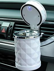 Недорогие -1 шт. Автомобильные аксессуары портативный свет автомобиля пепельница универсальный держатель сигареты цилиндр стайлинга автомобилей белый / черный