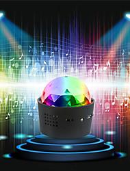Недорогие -Loende беспроводной диско-шаровой фонарь с батарейным питанием звуковой активированный светодиодная вечеринка стробоскоп мини-портативный RGB DJ DJ свет этапа с USB