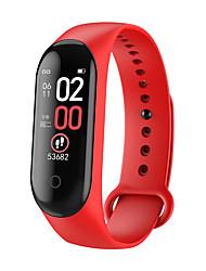 billige -m4 max ips farveskærm armbånd ip68 blodtryk o2 lang standby fitness smart ur