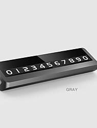 Недорогие -сплав металлическая парковка телефон номерной знак карты универсальный скрытый авто мобильный временная остановка знак серый