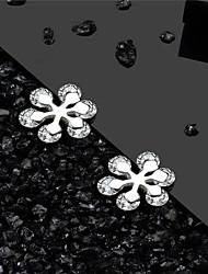 Недорогие -925 серебристо-белый ааа кубического циркония серьги классические снежинки простые европейские модные серьги ювелирные изделия