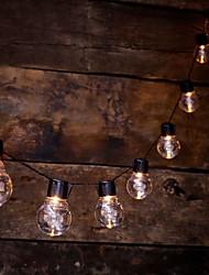 Недорогие -Brelong светодиодный открытый свет шнура с 20 прозрачными светодиодными лампами для заднего двора балкон интерьер свет бистро ну вечеринку украшения теплый белый аккумулятор
