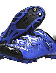 Недорогие -SIDEBIKE Взрослые Обувь для велоспорта Обувь для горного велосипеда Амортизация Велосипедный спорт / Велоспорт Синий / белым Обувь для велоспорта / Дышащая сетка