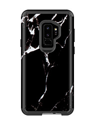 billige -Etui Til Samsung Galaxy S9 / S9 Plus Stødsikker / Vandafvisende Bagcover Marmor PC / silica Gel