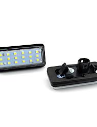 Недорогие -2 шт. / Компл. Светодиодный номерной знак света комплект безошибочный для Lexus LX470 GX470 Toyota Land Cruiser автомобиль