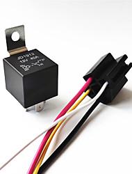 Недорогие -5 шт. / Компл. Dc 12 В / 24 В-40а автомобиль SPDT автомобильное реле 4-контактный 4-проводной ж / жгут разъема номинальное напряжение 12 В постоянного тока с гнездом