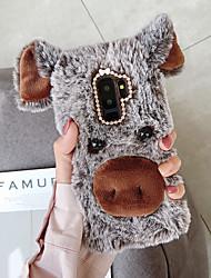 billige -etui til Samsung Galaxy A5 (2018) / Galaxy a7 (2018) / a3 (2017) diy bagcover animalsk tekstil / tpu