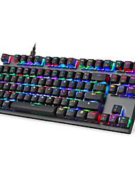 Недорогие -2019 новый игровой механический K82 клавиатура RGB светодиодной подсветкой USB проводной 87 клавиш клавиатуры
