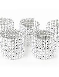 Недорогие -Золото серебряное кольцо салфетки стулья пряжки свадебное событие украшения ремесла горный хрусталь луки держатель ручной праздничные атрибуты
