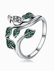 Недорогие -Высокое качество 100% стерлингового серебра 925 листьев дерева с птичьими пальцами кольца для женщин обручальное кольцо ювелирные изделия размер 1.4 см * 1.7 см