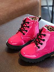 Недорогие -Девочки Армейские ботинки Полиуретан Ботинки Маленькие дети (4-7 лет) Черный / Персиковый / Розовый Осень