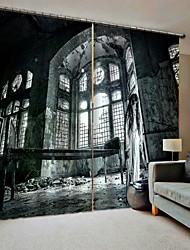 Недорогие -2019 новые окна шторы мультяшном стиле замок ужасов утолщение затемнения пылезащитный 100% полиэстер занавес