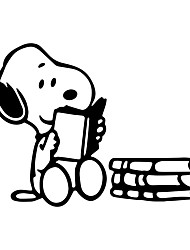 Недорогие -смешные наклейки чтения собаки милый мультфильм шаблон автомобиля отличительные знаки