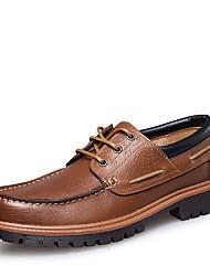 Недорогие -Муж. Официальная обувь Наппа Leather Весна / Наступила зима Винтаж / Английский Топ-сайдеры Для прогулок Нескользкий Черный / Коричневый / Свадьба / Для вечеринки / ужина / Для вечеринки / ужина